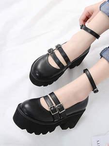 Gdgydh/женские туфли-лодочки в готическом стиле; Обувь с ремешком на щиколотке на высоком массивном каблуке; Обувь на платформе в стиле панк; Же...