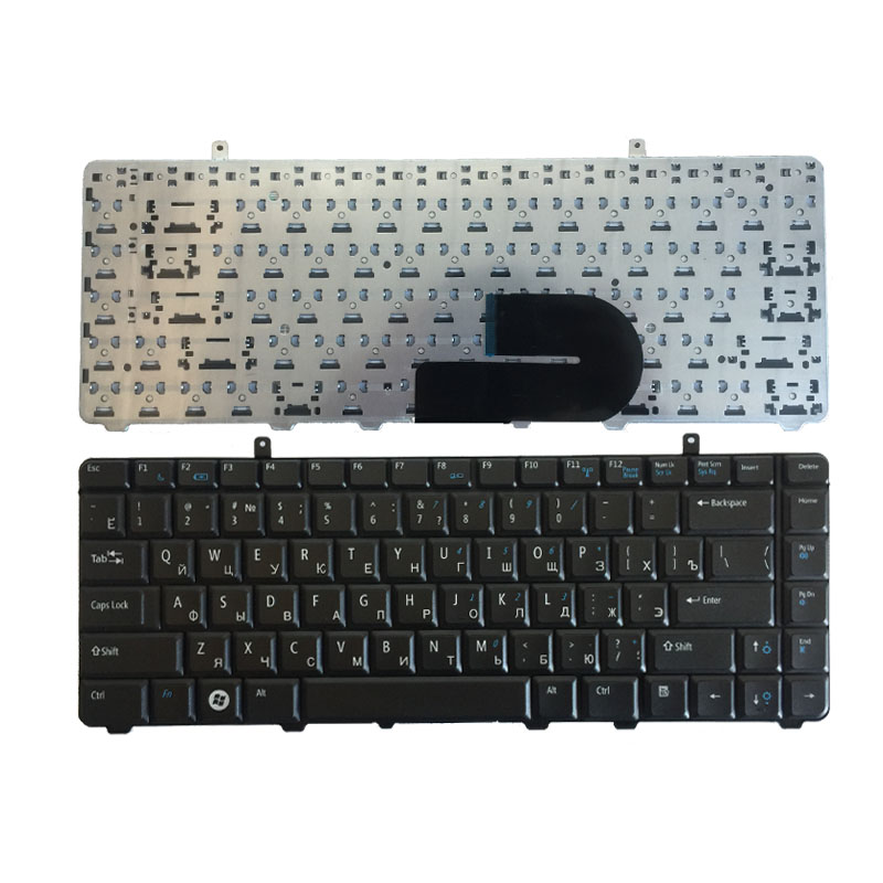 Russian Keyboard For Dell A840 A860 Vostro 1014 1015 1088 PP37L R811H 0R811H R818H 0R818H PP38L RU Black Laptop Keyboard