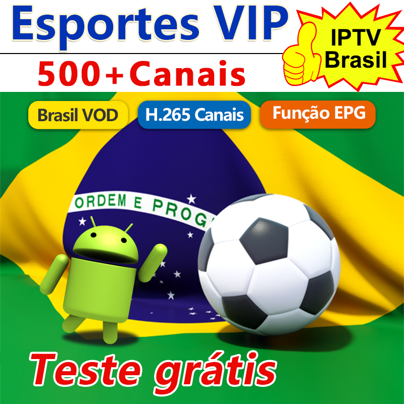 IPTV Brazil Subscription IPTV M3u Android 500+ Live Free Brazil VOD H.265 EPG 4K VIP Portuguese IPTV Brasil IP TV Brazil Code