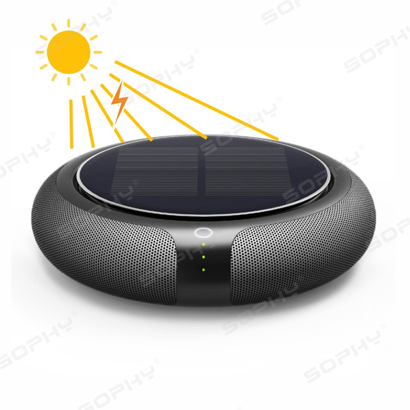 Car Air Purifier With HEPA Filter Fresh Solar Energy System Air Anion Air Cleaner Best For Car Home Office