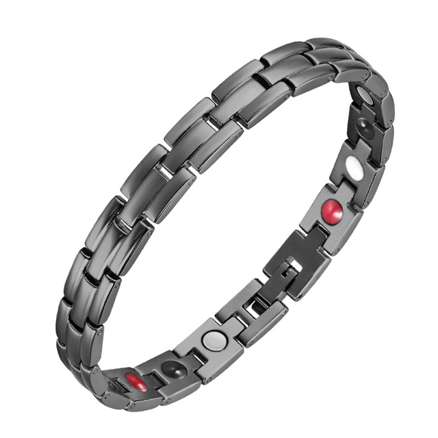 OKtrendy Women Stainless Steel Magnetic Power Bracelet Silver Plated Gold Bio Energy Health Magnetic Germanium Bracelets gifts