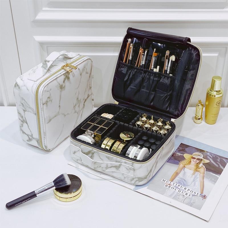 Brand Beauty Brush Makeup Bag Travel Professional Women Cosmetic Case Big Capacity Make Up Box Necessary Waterproof Cosmetic Bag