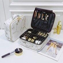 Marca de beleza escova maquiagem saco viagem profissional feminino caso cosmético grande capacidade compõem caixa necessária à prova dwaterproof água saco cosmético