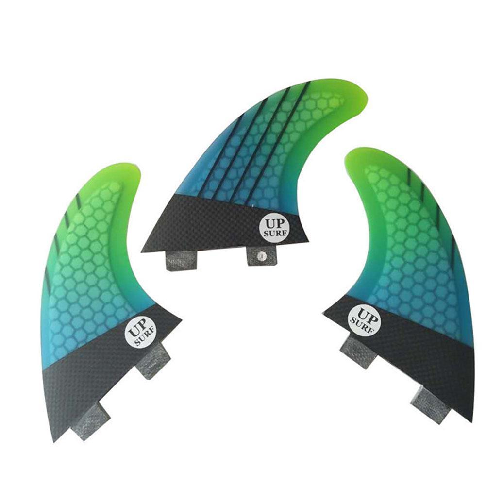 HobbyLane Surf Ailerons/Ailettes Quillas Quilhas Quilles 3 pièces Haute Qualité FCS-G5 Nid D'abeille En Fiber de Queue de Surf Propulseurs Gouvernail