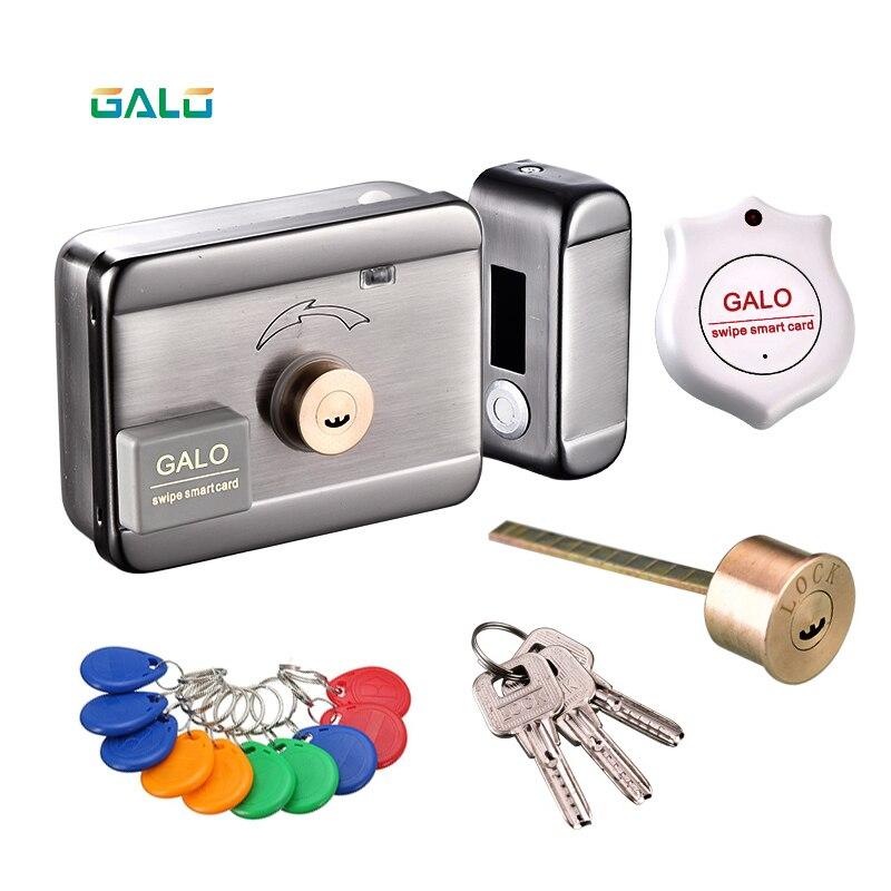 Fechadura elétrica & portão bloqueio de acesso sistema eletrônico integrado rfid fechadura da borda da porta com leitor identificação 125khz