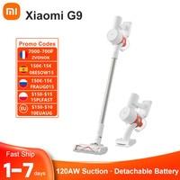 código promocional :08ESTE15(150-15€) Xiaomi-aspiradora Mi G9 inalámbrica, batería reemplazable para suelo, electrodomésticos domésticos, Mijia, barrido, aspirador para el hogar