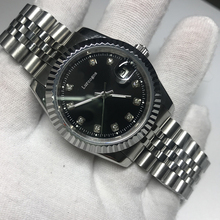 DATE watch 36mm black dial with sapphire glass mesh glide smooth 2813 movement designer brand luxury AAA