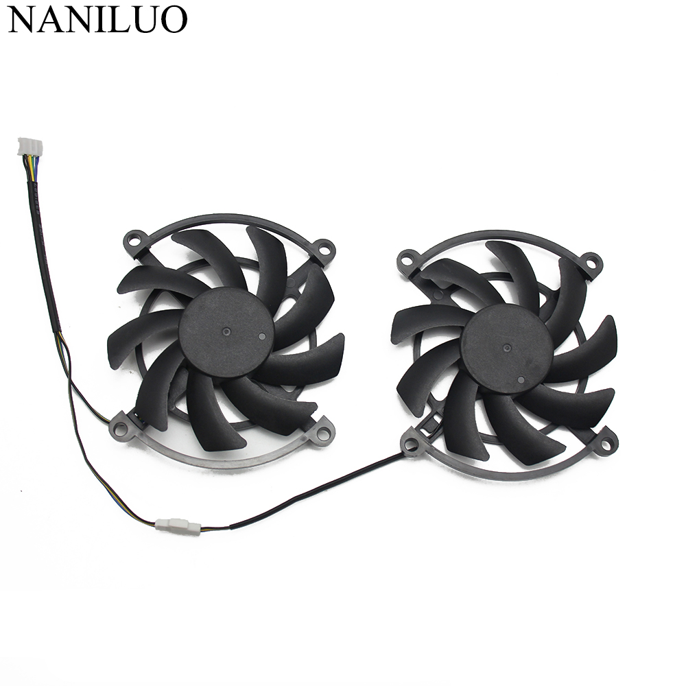 2PCS/lot for Colorful iGame GTX 1060-3GD5 GAMING GTX1060 1070 Video Graphics card cooling fan image