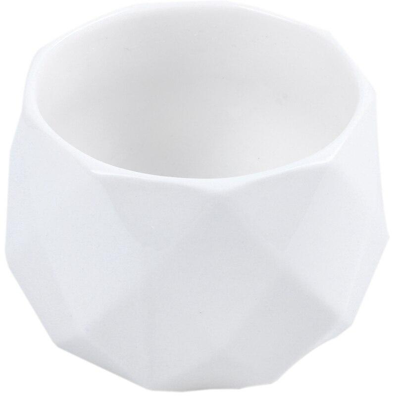European Style Living Room Decoration Ornament Ceramic Vase Succulent Flower Pot White Ceramic Height 7Cm Diameter 9.5Cm