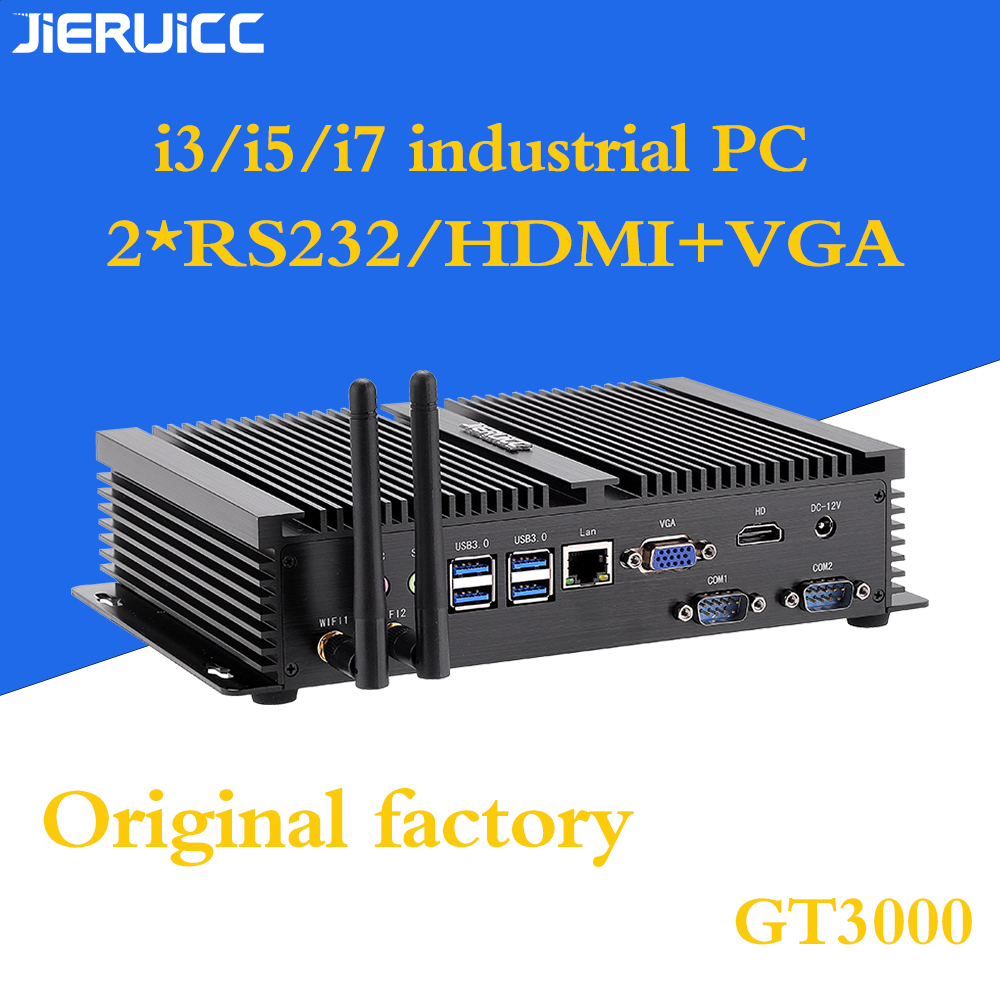 I7 Industrial Computer With 2*rs232 Com Port Dual Display Hdmi Vga,dual Ram Slot Support Msata,2.5inch Hdd Max 2TB