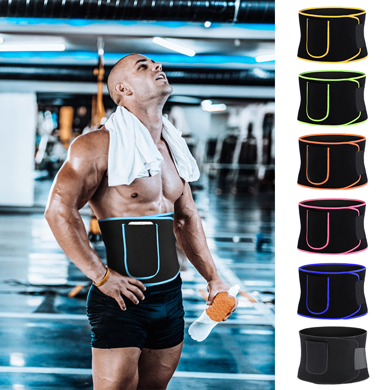 Universal Adult Fitness Sport Waist Belt Support Exercise Slimming Shaping Strap Gym Training Waist Trimmer Losing Weight Belt