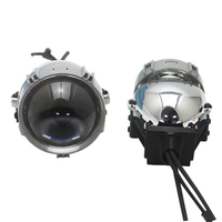 Bedehon 2 PCS 2.5 Inch LHD RHD Bi LED Retrofit Lens Projector Car headlight Lens for faro led bmw 800 bmw e39 touring