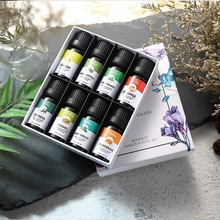 MISHIU a Variety Of Flavors 100% Natural Essential Oil Pure Plant Perfume Body Massage 10Ml 8 Pieces / Set