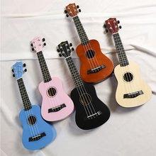 21 Inch Ukulele Soprano Beginner Ukulele Guitar Ukulel Neck Delicate Tuning Peg 4 Strings Wood Ukulele