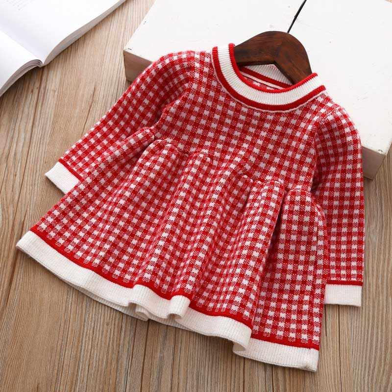 2020 الشتاء الخريف عيد الميلاد طفل الفتيات فستان طويل الأكمام منقوشة سترة فستان للفتيات فستان عيد ميلاد الوليد الملابس 3 12 24 متر