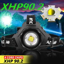 Powerful 8000lm xhp902 led headlamp usb rechargeable headlight