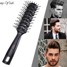 Peigne thermique antistatique pour Salon de coiffure, brosse pour Massage sain, idéal pour réduire la perte de cheveux