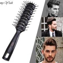 Pro Cabeleireiro Hair Salon Barbeiro Anti estática Pente Calor Peruca de Cabelo Styling Ferramenta Pente Escova de Massagem Saudável Reduzir O Cabelo ferramentas de perda