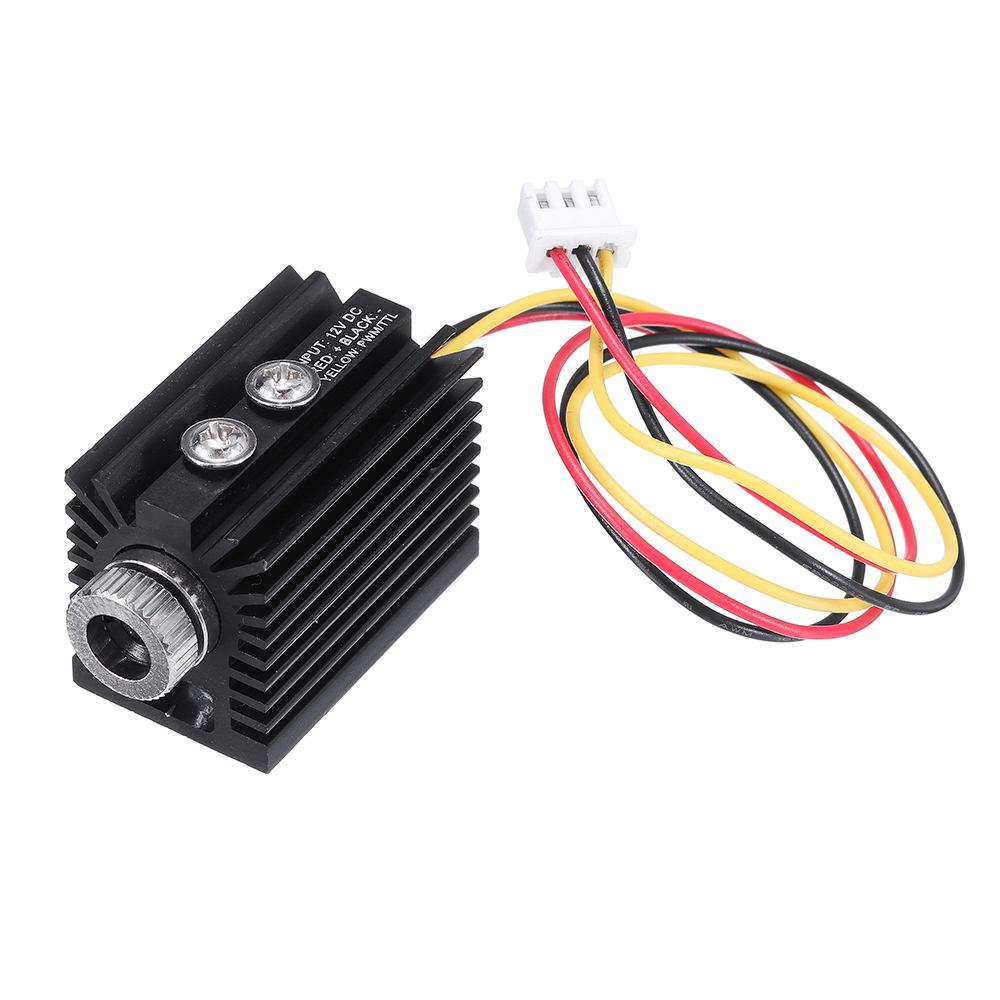 100/180/300mW 405nm Blue Violet Dot Laser Module Variable Focus TTL/PWM Modulation W/ Heat Sink 2.54-3P For DIY Laser Engraver