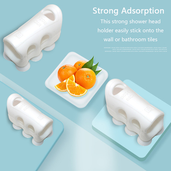 1Pcs Shower Head Holder Suction Cup Home Shower Adjustable Holder Silicone Wall Suction Vacuum Cup Portable Bathroom Accessories 1