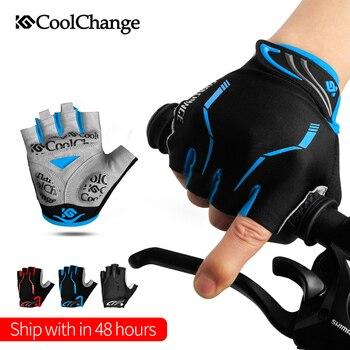 CoolChange-Guantes de Ciclismo de medio dedo para hombre y mujer, Guantes deportivos...