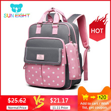 School-Backpacks Mochila Kids Bag Girls for Escolar Sun-Eight-Dot