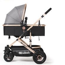 Золотая детская коляска 2 в 1 Детская легкая коляска Высокая Ландшафтная коляска детская коляска четыре колеса детская тележка