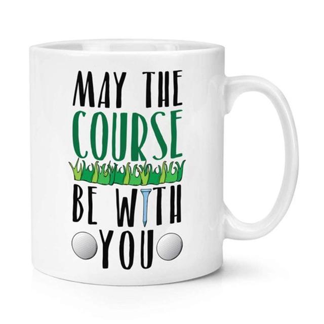 Tasse de café de Golf May the be With You   11 oz. white, meilleur cadeau humoristique pour golfeurs