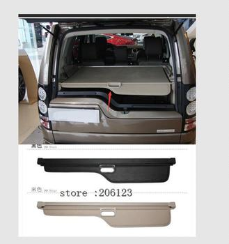 car rear trunk security shield cargo cover for toyota land cruiser prado 120 2003 2009 high qualit trunk shade security cover Aluminum+Canvas Rear Cargo Cover Trunk Shade Security For Land Rover LR4 Discovery 4 2010 2011 2012 2013 2014 2015