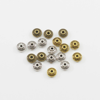 50pcs/lot 6mm Gold Antique Bronze Plated Spacer Bead Cone Pattern Loose DIY Vintage Beads Supplies For Jewelry Making