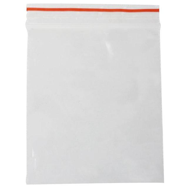 Chaud 100 pièces Sachet Pochette Transparent En Plastique Fermeture sac Pochon Pression 5X7cm