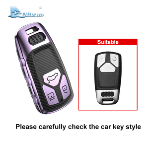 Image 2 - AIRSPEED funda protectora de fibra de carbono para llave de coche, cubierta protectora, para Audi A4, A4L, A6L, A5, B9, Q5, Q7, TT, TTS, 8S, S5, S7