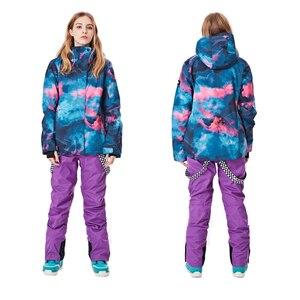 Image 5 - SMN куртка для сноуборда, лыжный костюм для взрослых и женщин, цветной, ветростойкий, водонепроницаемый, дышащий, для занятий спортом на открытом воздухе, для зимы, для катания на лыжах