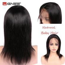 Wignee Lace Front Straight Hair Human Wigs With Baby Hair Fo