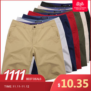 Chinos Shorts Knee-Length Vintage Masculina Large-Size Cotton Casual Fashion Big 44 Men