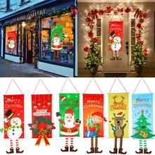 Noel süslemeleri ev sundurma işareti dekoratif kapı asılı dekorlar Merry Christmas noel süsler Navidad 2020 Natal 2021