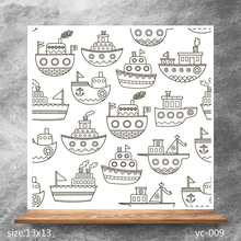 ZhuoAng Nautical comics Clear Stamps/Silicone Transparent Seals for DIY scrapbooking photo album Stamps