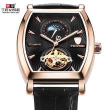 все цены на TEVISE Automatic Self-Winding Mechanical Watches Men Tourbillon Men's Watch Skeleton Male Sports Wristwatch Relogio Masculino онлайн