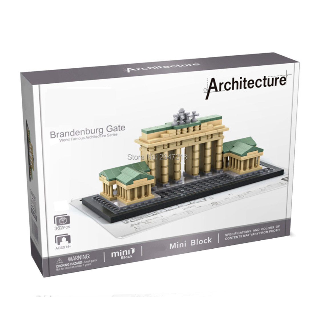 hot LegoINGlys city classic Street view Germany Berlin Gate famous Brandenburg mini Micro Diamond Building Block model toys gift image