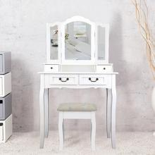 Dresser Sets For Bedroom Plate Dressing Table Dresser Vanity Set With 3 Mirror Cushioned Stool Dressing Table