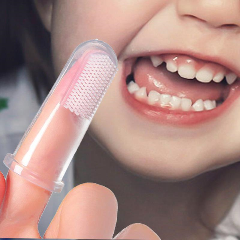 Toothbrush 1pc Kids Baby Infant Soft Silicone Finger Toothbrush Teeth Rubber Massager Brush Baby Infant Soft Silicone Finger