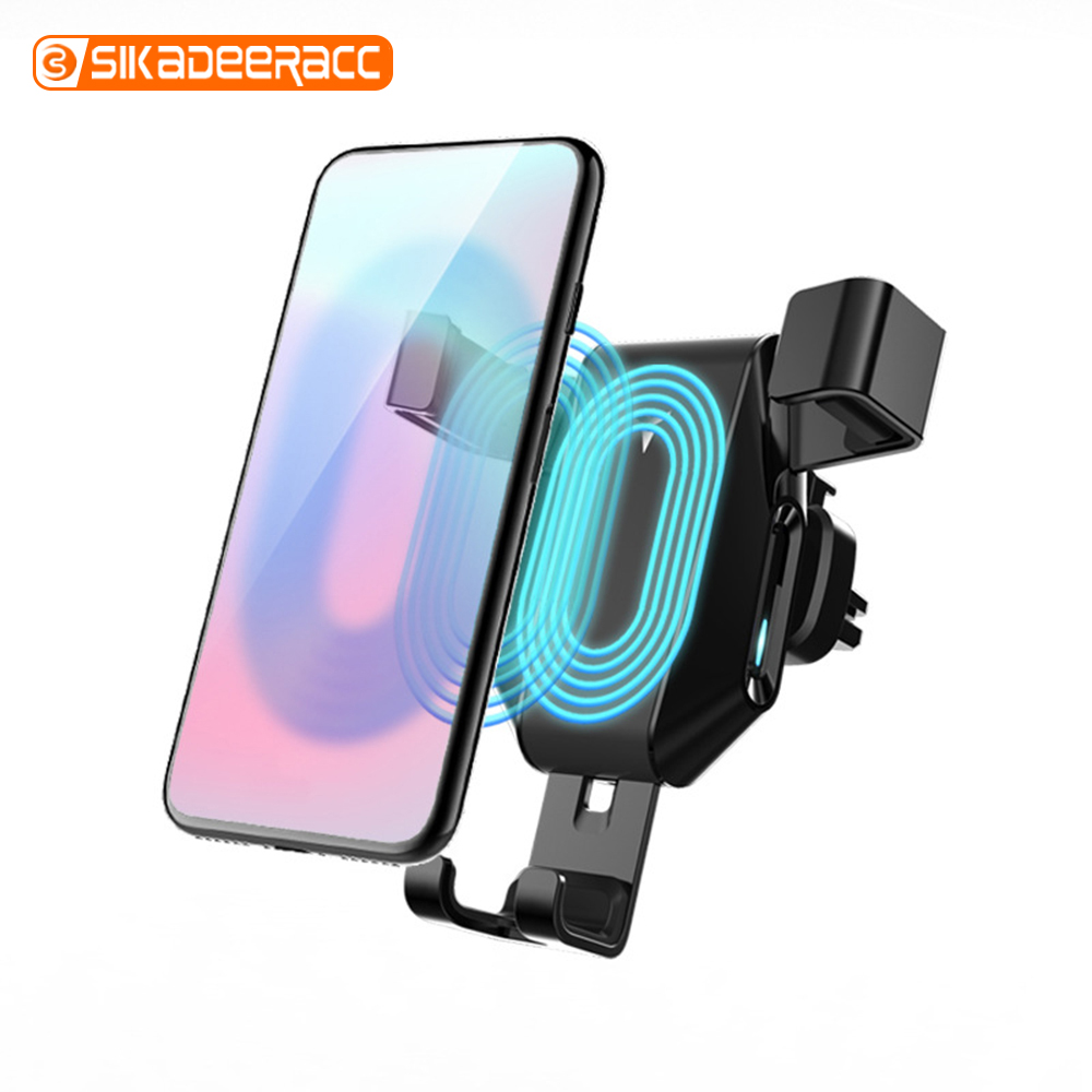10W Fast Wireless Charger Car Holder Air Outlet For Samsung Galaxy Note S9 Plus S7 Edge Stand Mobile Phone Bracket For iPhone XR