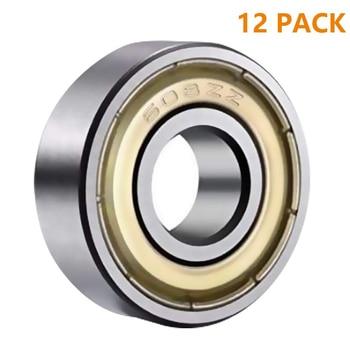 12pcs Double Shielded Miniature High-carbon Steel Single Row 608ZZ ABEC-1 Deep Groove Ball Bearing 8*22*7 8x22x7 MM 608 ZZ abec 3 50pcs 693zz 693 zz 3x8x4mm mini ball bearing miniature bearing deep groove ball bearing brand new 3 8 4 mm