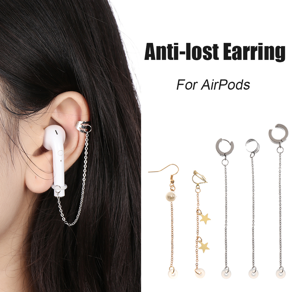 Anti Lost Ear Clips Earphone Accessories Women Earring For Airpods