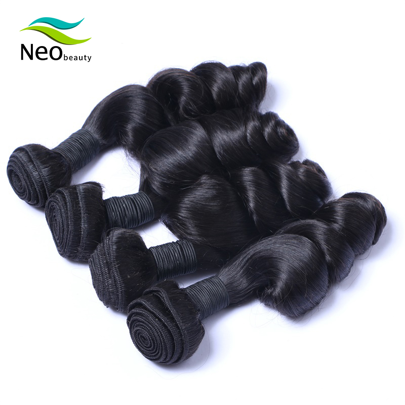 Neobeauty Hair Loose Wave Bundles Brazilian Hair Weave Bundles 100% Human Hair Extensions 3 Bundles virgin Hair Bundles