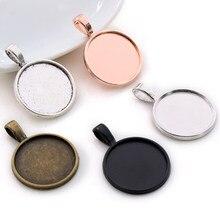 10 pçs 20mm tamanho interno ródio antigo prata chapeado bronze rosa ouro 5 cores clássico estilo cabochão base ajuste encantos pingente