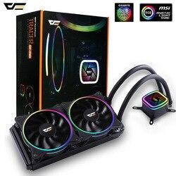 Aigo кулер для процессора водяное охлаждение компьютера 120 мм вентилятор для процессора кулер для воды радиатор бесплатная термическая смазк...