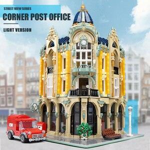 Image 3 - 16005 Streetview jouets de construction la Collection Antique boutique coin bureau de poste modèle blocs de construction enfants noël jouets cadeaux