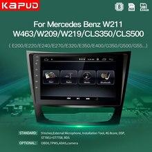 Kapud-reproductor Multimedia con DVD y GPS para coche, reproductor con radio, Android 9, para Benz e-clas W211(E200, E220, E240, E270, E280, E300, E350), Cls, Classe, w219