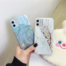 USLION Shockproof Marble Patterned Phone Cover For iPhone 11
